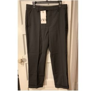 Zara Slim Black Career Trousers